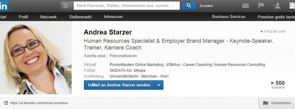 Andrea Starzer LinkedIn Profil