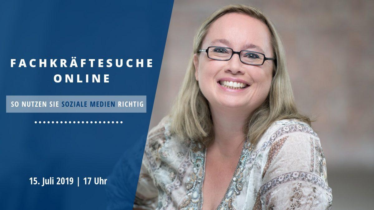 Vortrag zum Thema Fachkräfte online suchen von Andrea Starzer